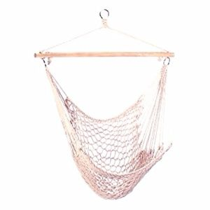 Furniture Creations Other   Hanging Cotton Rope Hammock Swing Chair Seat